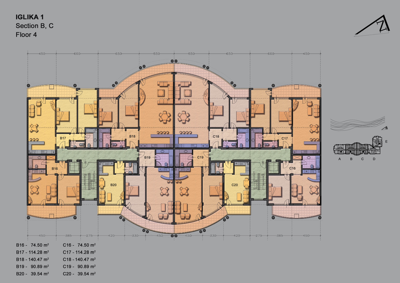 100 Apartment Complex Floor Plans The Julian